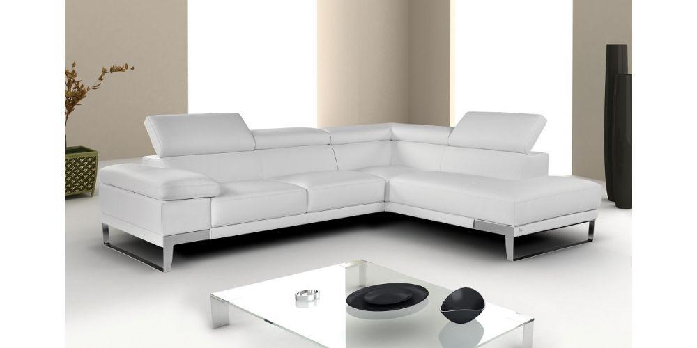 "J&M Furniture ""Nicoletti"" Premium Leather Sectional"