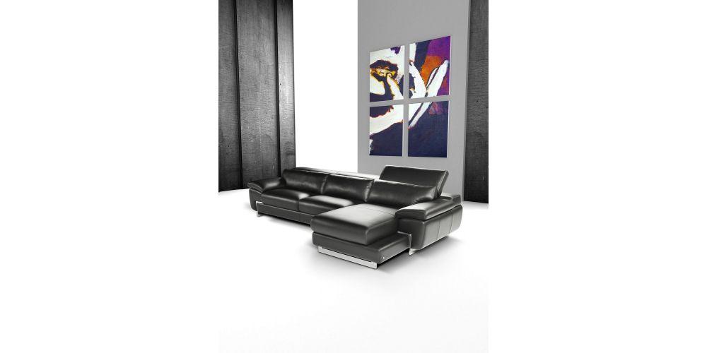 J&M Furniture Oregon I Italian Leather Sectional