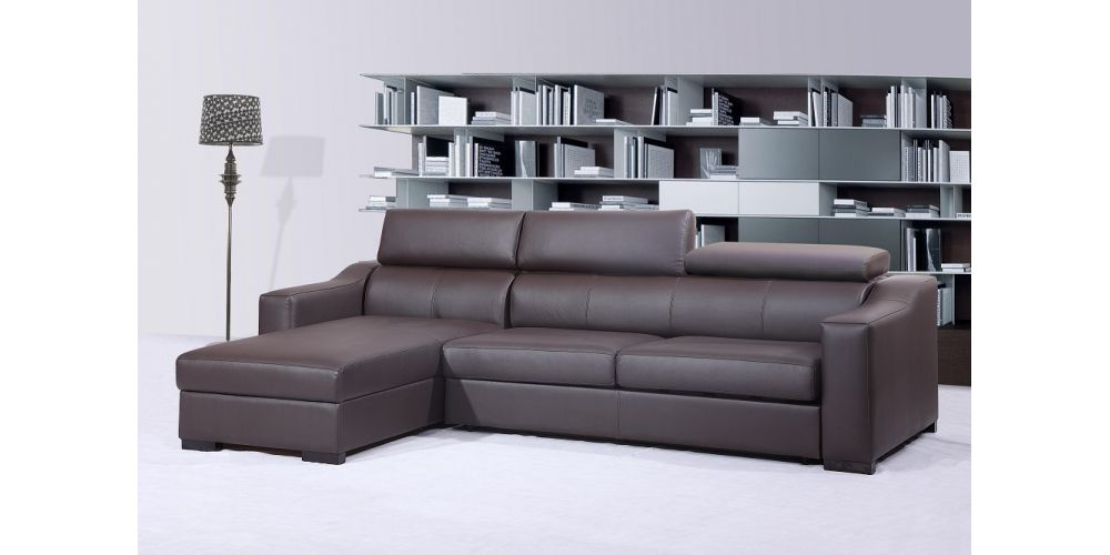 J&M Furniture Ritz Sleeper Leather Sectional