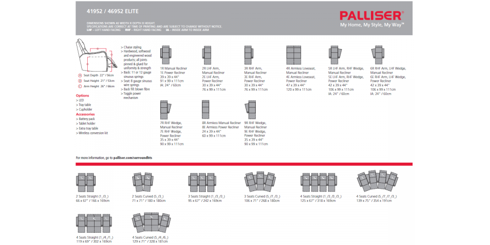 Palliser Elite Layouts
