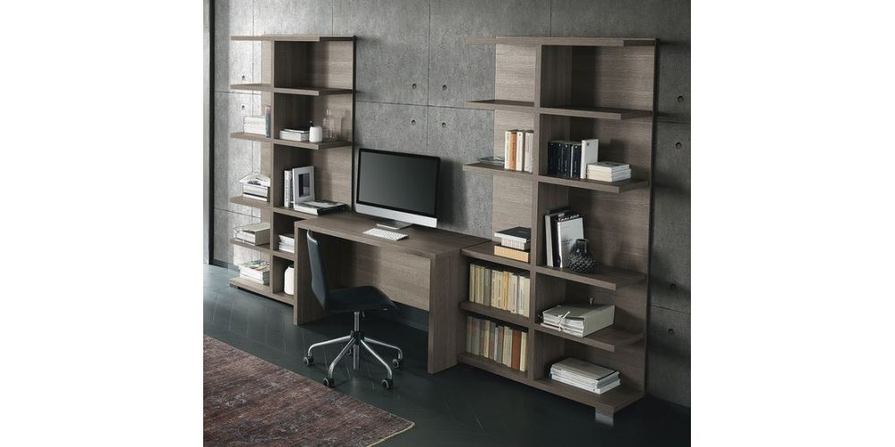 """ALF Tivoli Office 47"""" desk w/ Library cabinets"""