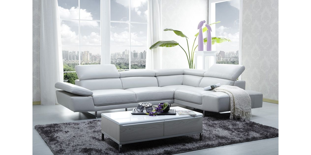 J M Furniture 1717 Premium Leather Sectional Lowest Price On J M