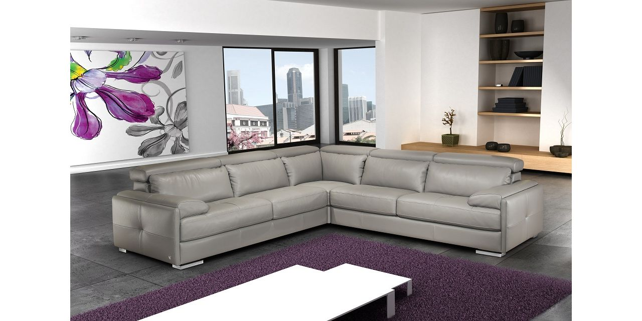 J M Furniture Gary Italian Leather Sectional Lowest Price On J M