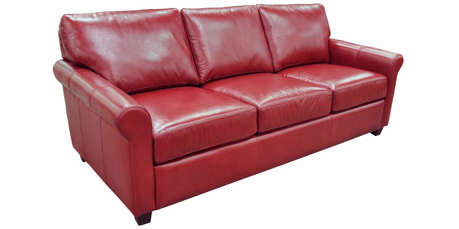 Omnia Leather Stationary Solutions Sofa Collection
