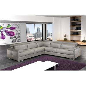 J&M Furniture Gary Italian Leather Sectional
