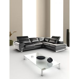 J&M Furniture Oregon II Italian Leather Sectional