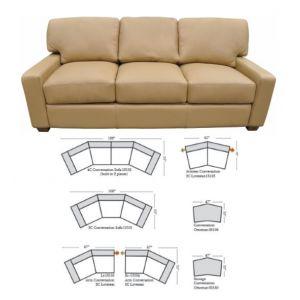 Omnia Leather Albany Sofa