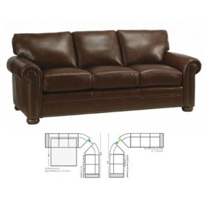 Omnia Leather Athens Curved Sectional