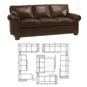 Omnia Leather Athens Sectional