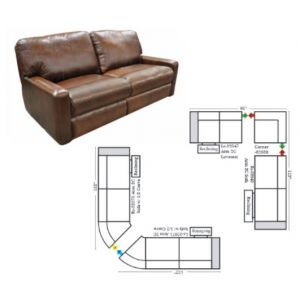 Omnia Leather Atlantic Reclining Sectional