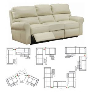 Omnia Leather Brookfield Reclining Sectional