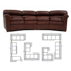 Omnia Leather Canyon Sectional
