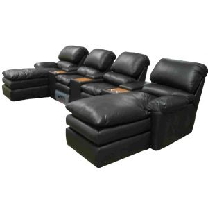 Omnia Leather Catera Reclining Sectional
