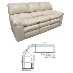 Omnia Leather Catera Reclining Curved Sectional