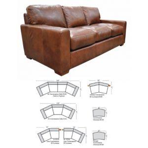 Omnia Leather City Craft Sofa