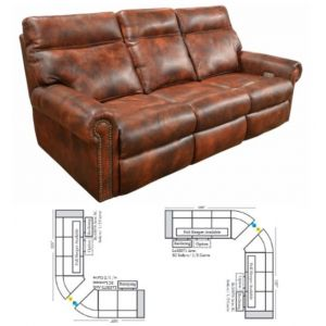 Omnia Leather Coleman Reclining Curved Sectional
