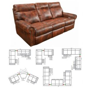Omnia Leather Coleman Reclining Sectional