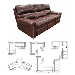 Omnia Leather Connor Reclining Sectional