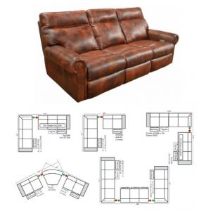 Omnia Leather Curtis Reclining Sectional