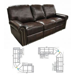 Omnia Leather Fairfield Reclining Curved Sectional