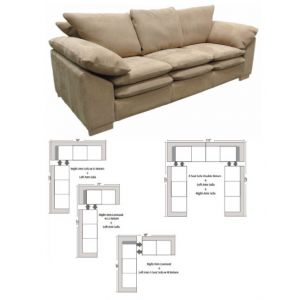 Omnia Leather Fargo Sectional