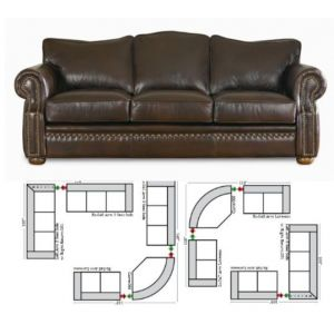 Green Valley Leather Laredo Sectional L-Shape Collection