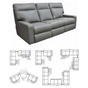 Omnia Leather Lyndsey Reclining Sectional