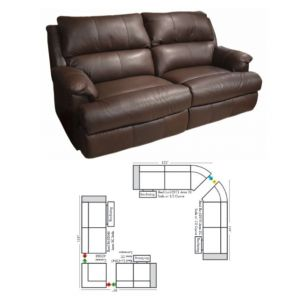 Omnia Leather Nicholas Reclining Sectional