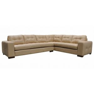 Green Valley Leather Peninsula Sectional L-Shape Collection
