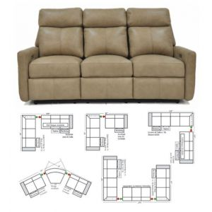 Omnia Leather Riverside Drive Reclining Sectional