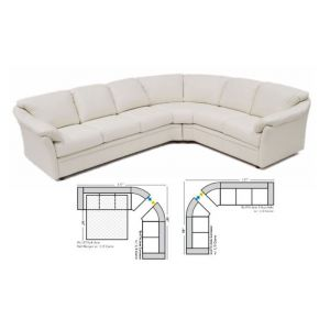 Omnia Leather Salerno Curved Sectional