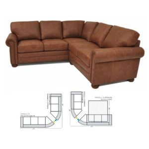 Omnia Leather Savannah Curved Curved Sectional