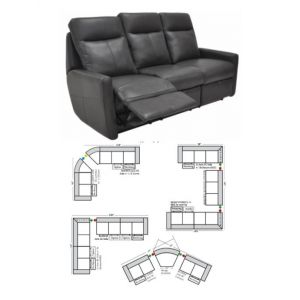 Omnia Leather Sherman Oaks Reclining Sectional