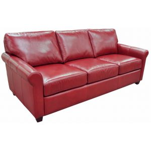 Omnia Leather Stationary Solutions Sofa