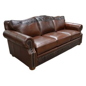 Omnia Leather Green Valley Leather Tucson Sofa