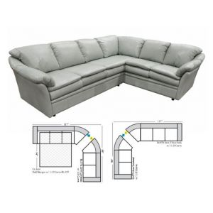Omnia Leather Uptown Curved Curved Sectional