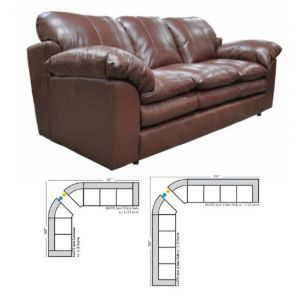 Omnia Leather Ventura Curved Sectional