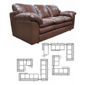 Green Valley Leather Ventura Sectional L-Shape Collection