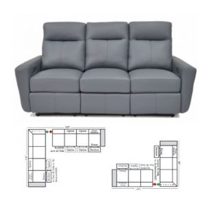 Omnia Leather Venus Power Reclining L-Shape Sectional