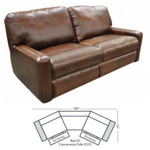 Omnia Leather Atlantic Conversation Sofa