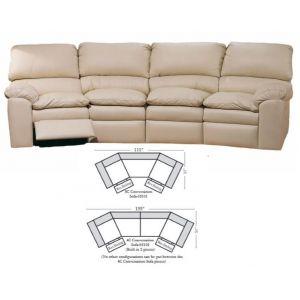 Omnia Leather Catera Conversation Sofa