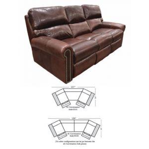 Omnia Leather Connor Conversation Sofa