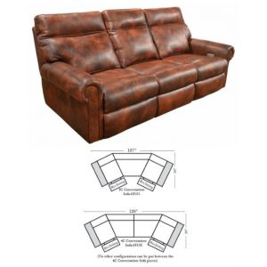 Omnia Leather Curtis Conversation Sofa