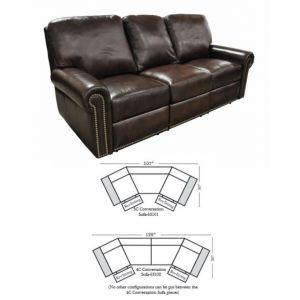 Omnia Leather Fairfield Conversation Sofa