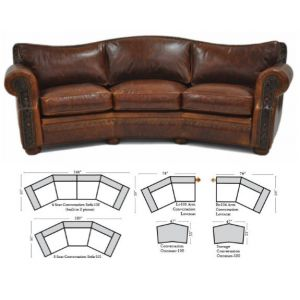 Green Valley Leather Laredo Conversation Sofa