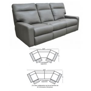 Omnia Leather Lyndsey Conversation Sofa