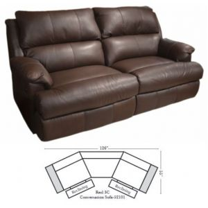 Omnia Leather Nicholas Conversation Sofa