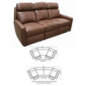 Omnia Leather Brookfield Conversation Sofa