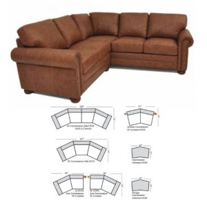 Omnia Leather Savannah Sofa