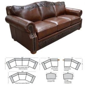 Green Valley Leather Tucson Conversation Sofa